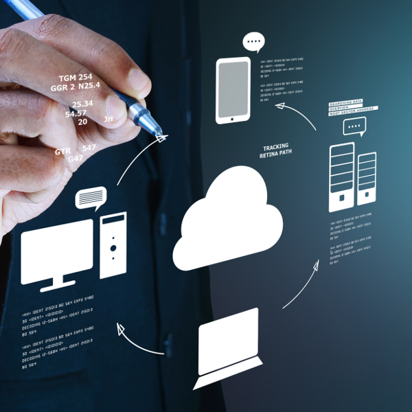 Hand Drawing Cloud Computing Concept Image